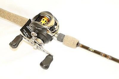 10BB high Quality Low Profile Baitcaster Reel Right Hand-Gold & Black