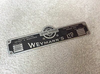 Weymann's Ltd Dealership Door Sill Badge