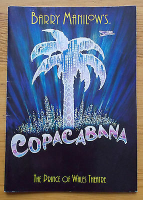 Barry Manilow's Copacabana programme The Prince of Wales Theatre Oct 1994 ed.