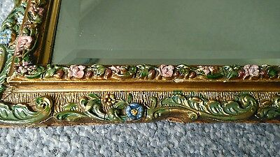 Vintage Large Barbola Gilt Wall Mirror. Very nice condition