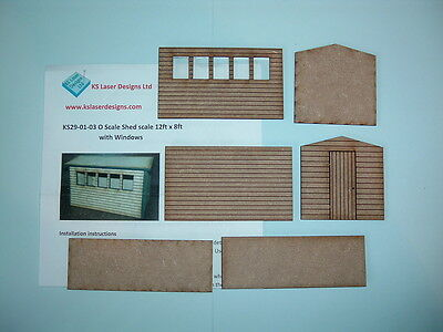 One O scale Garden Shed Kit with windows on one side