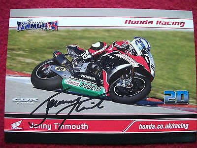 Jenny Tinmouth - Honda Racing - Hand Signed BSB Promo Card A5