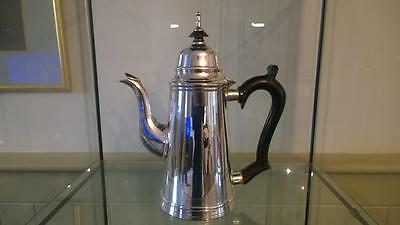 Fine Antique Georgian Style Silver Plated Coffee Pot