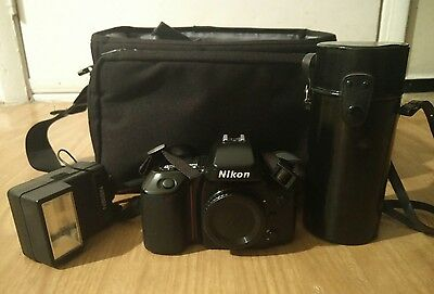 Nikon N70 35mm SLR Film Camera and Bag