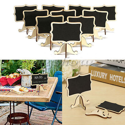 10X Wooden Chalkboard Blackboard Message Table Number Wedding Party Deco 5H1