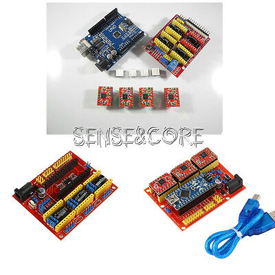 CNC V2/V3/V4 Shield Engraver 3D Printer Expansion Board A4988 Driver For