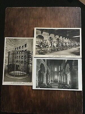 Three vintage postcards of the Tower of London