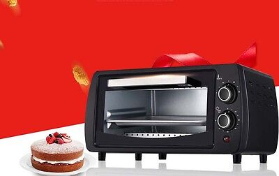 10L Home Commercial Black Multi-function Baking Tool Benchtop Electric Oven &