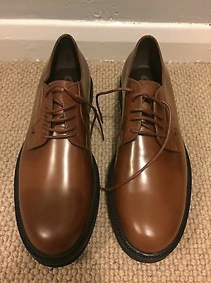 Tods Men's Brown Derby Leather Lace Up Shoe UK 9 Never Worn