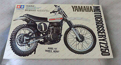 YAMAHA Motocrosser YZ250 by Tamiya 1:6 1/6 Scale Kit BS0611-2500 Partially Asbd
