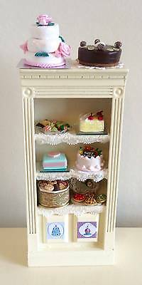 Dolls House Miniature 12Th Scale Bakery Cake Shop Display Cabinet