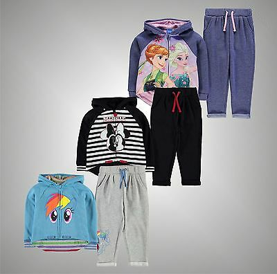 Infant Girls Character Print 2 Pieces Jog Set Zip Hoody Bottoms Size Age 2-12