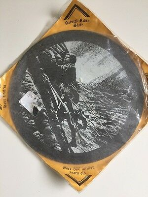 Vintage Natural Riven Slate Hand Crafted Plaque Of The War