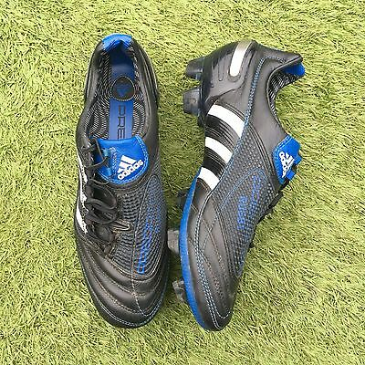 Adidas Predator X Rugby Football Uk 8 FG Black White Blue
