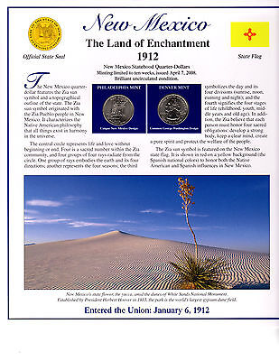 State Of New Mexico Collectible With State Quarters Stamps And Lots More