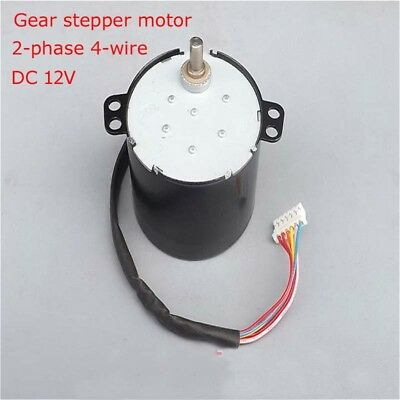 DC 12V Gear stepper motor 2-phase 4-wire 4-phase 5-wire stepping motor 0.5A 5kg