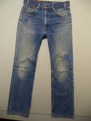 vtg 90s LEVIS MENS 517 BOOT CUT BLUE JEANS sz 32x31 distressed made in USA