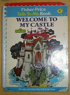 Vintage 1978 Fisher-Price Talk-To-Me Book #9 - WELCOME TO MY CASTLE-Muppets