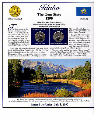 State Of Idaho Collectible With State Quarters Stamps And Lots More