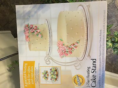 Wilton 2-Tier Graceful Cake and Cupcake Stand Weddings Parties