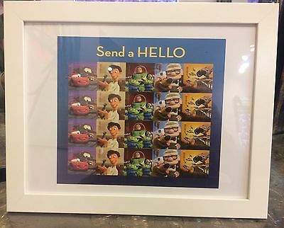 FRAMED Send A Hello Forever Stamp Sheet Mint Condition 2013 READY To GIFT
