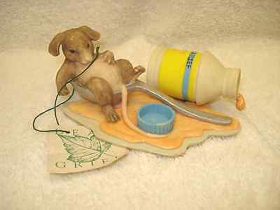 Charming Tails Silvestri Signed NIB GET WELL SOON Mouse Tummy Ache 97/71  9