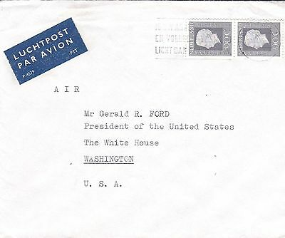 1976 Nederland Cover To President Gerald Ford White House Nice RARE (Lot2203)