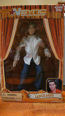"""NSYNC, Lance Bass Collectible Marionette, NEW, 9 1/2"""" Tall, Living Toy"""
