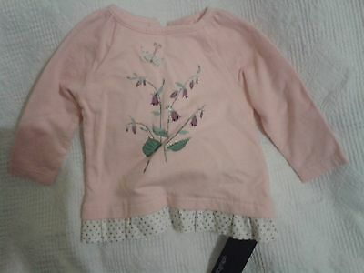 NEW Marks & Spencer Autograph Floral Top, size 3-6 months
