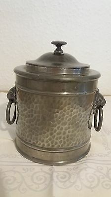 Vintage Pewter biscuit/tea container with maker mark