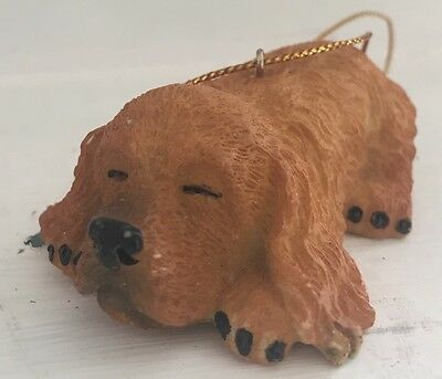"Cocker Spaniel Dog Puppy Christmas Holiday Tree Ornament 3"" GUC"