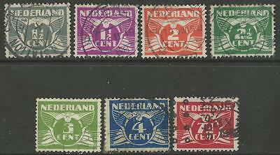 Holland Netherlands Stamps 1924-1935 Gull Type Set of 7 Fine Used