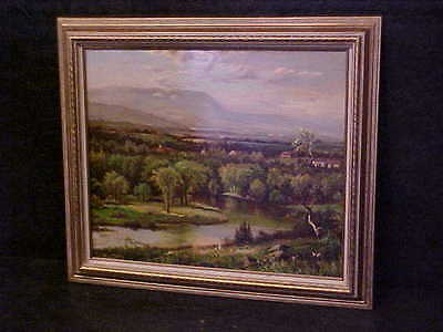 Early oil on canvas painting signed by artist. Lot 2563