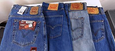 Job Lot 4 Pairs of Levis Men's Jean 501 513 & 560 3 pairs Used 1 Second