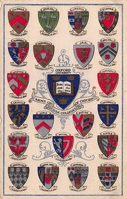 Vintage Postcard Arms of The Colleges of Oxford by Valentine's