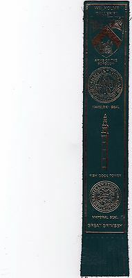 Leather Bookmark - Great Grimsby, Lincolnshire.