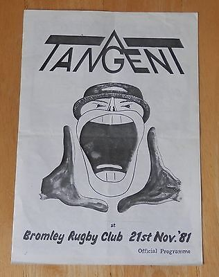 Tangent programme @ Bromley Rugby Club, Peter White,Peter Phillips,Phil Wickende