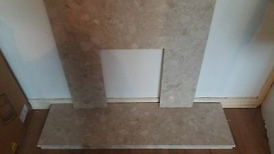 Marble fire surround  and hearth fireplace fire