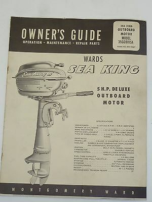 Vintage Owner's Guide Wards Sea King Outboard Motor Model 35GG9015A
