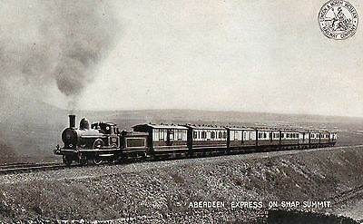 London and North Western Railway Company postcard of Aberdeen Express on Shap Su