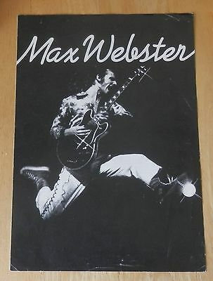 Max Webster folded A3 printed sheet, late 1970's