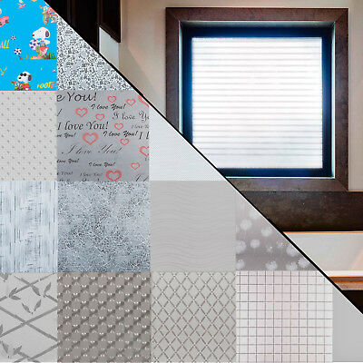 Frosted Window Privacy Film Vinyl Squares, Lines, Plain etc.  ***15 DESIGNS***