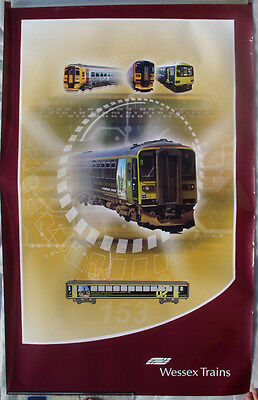 Wessex Trains deceased Class 153 374 DMU c2003 A2 poster Pacer 158 advert livery