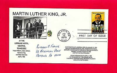#1771 Martin Luther King Fdc At Lorraine Motel Day Before Assassination