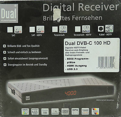 DUAL Digital Receiver DVB-C 100 HD HDMI HDTV Kabel Receiver USB Aussteller