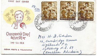 India 1963 Children's Day first day cover