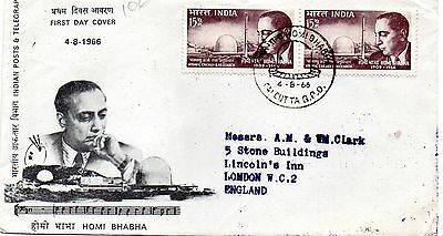 India 1966 Homi Bhabha first day cover