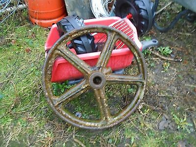 old cast iron pulley wheel stationary engines