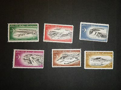 canal zone C36-C41 mint  NH
