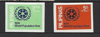 PHILIPPINES 1237a - 1238a MH IMPERF - 1974